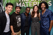 (L-R) Manny Jacinto, Lin-Manuel Miranda, William Jackson Harper, D'Arcy Carden and Daveed Diggs attend Entertainment Weekly's Comic-Con Bash held at FLOAT, Hard Rock Hotel San Diego on July 20, 2019 in San Diego, California sponsored by HBO.