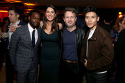 (L-R) William Jackson Harper, D'Arcy Carden, Entertainment Weekly Editor in Chief JD Heyman, and Manny Jacinto attend the 2019 Pre-Emmy Party hosted by Entertainment Weekly and L'Oreal Paris at Sunset Tower Hotel in Los Angeles on Friday, September 20, 2019.