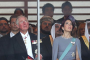 Prince Charles, Prince of Wales and Crown Princess Mary of Denmark attend the Enthronement Ceremony of Emperor Naruhito at the Imperial Palace on October 22, 2019 in Tokyo, Japan.