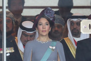 Crown Princess Mary of Denmark attends the Enthronement Ceremony of Emperor Naruhito at the Imperial Palace on October 22, 2019 in Tokyo, Japan.