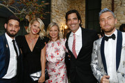 (L-R) Michael Turchin, Sarah Wright, Amy Smart, Carter Oosterhouse and  Lance Bass attends the Environmental Media Association 2nd Annual Honors Benefit Gala at Private Residence on September 28, 2019 in Pacific Palisades, California.