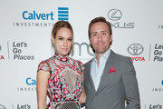 TV personalities Ashlan Gorse (L) and Philippe Cousteau attend the Environmental Media Association 26th Annual EMA Awards Presented By Toyota, Lexus And Calvert at Warner Bros. Studios on October 22, 2016 in Burbank, California.
