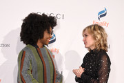 Chimamanda Ngozi Adichie and Amy Carlson attend the annual Make Equality Reality Gala hosted by Equality Now on November 19, 2019 in New York City.