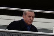 "Turkish President Recep Tayyip Erdogan arrives to Turkey's capital on April 17, 2017 in Ankara Turkey. Erdogan declared victory in Sunday's historic referendum that will grant sweeping powers to the presidency, hailing the result as a ""historic decision. 51.4 per cent per cent of voters had sided with the ""Yes"" campaign, ushering in the most radical change to the country's political system in modern times.Turkey's main opposition calls on top election board to annul the referendum. OSCE observers said that a Turkish electoral board decision to allow as valid ballots that did not bear official stamps undermined important safeguards against fraud."