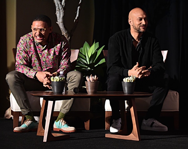 The Global Press Conference For Disney's 'The Lion King' [the lion king,conversation,table,event,furniture,adaptation,sitting,plant,houseplant,heater,performance,keegan-michael key,eric andre,beverly hills,california,global press conference,disney]