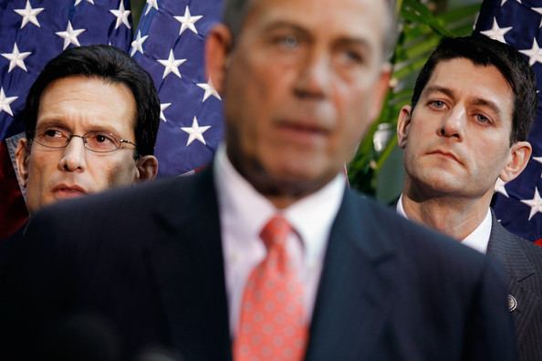 Boehner, Cantor, GOP Leaders Brief Media After Republican Conference Meeting []