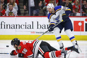 Eric Gustafsson St Louis Blues v Chicago Blackhawks