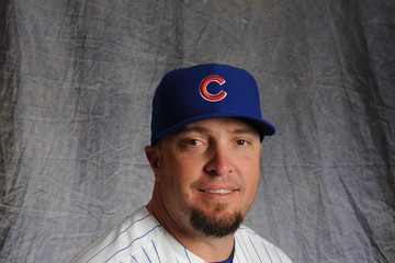 Eric Hinske Chicago Cubs Photo Day