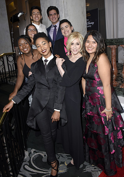 GLSEN Respect Awards Los Angeles - Cocktails [event,fashion,little black dress,formal wear,dress,premiere,fashion design,suit,tuxedo,haute couture,cocktails,glsen respect awards,l-r,los angeles,ayana boyd,jessica chiriboga,el martinez,judith light,matthew yekell,eric samelo]