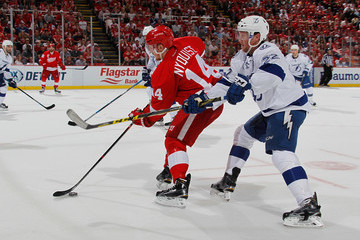 Erik Condra Tampa Bay Lightning v Detroit Red Wings - Game Three