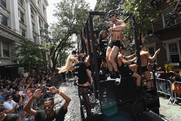 Erika Jayne Trojan Condoms And Alexander Wang Celebrate Their PROTECT YOUR WANG Collaboration At The New York City Pride March