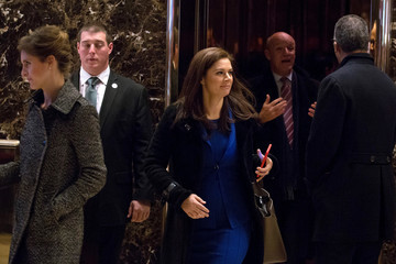 Erin Burnett President-Elect Donald Trump Holds Meetings At His Trump Tower Residence In New York