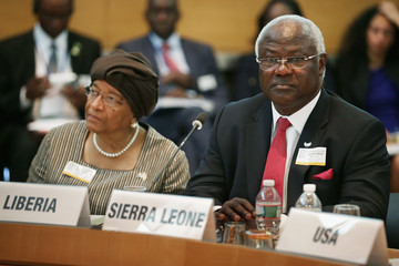 Ernest Bai Koroma IMP And World Bank Hold Spring Meetings