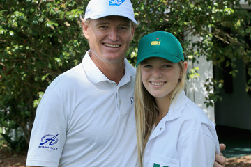 Photo of Ernie Els & his  Daughter  Samantha Leigh Els