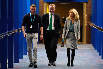 Esther McVey Conservative Party Leader Speaks To Conference On Day Four