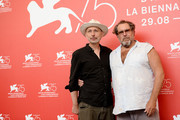 Benoit Delhomme and Julian Schnabel attend 'At Eternity's Gate' photocall during the 75th Venice Film Festival at Sala Casino on September 3, 2018 in Venice, Italy.