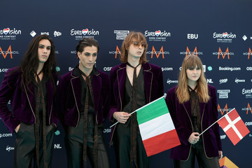 Ethan Torchio Damiano David Eurovision Song Contest 2021 - Turquoise Carpet Arrivals