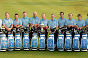 Team Europe. L/R. Graeme McDowell of Northern Ireland, Jamie Donaldson of Wales, Pablo Larrazabal of Spain, Stephen Gallacher of Scotland, Thomas Bjorn of Denmark, The Captain Miguel Angel Jimenez of Spain,  Vice-Captain Des Smyth of Ireland, Gonzalo Fernadez-Castano of Spain,  Joost Luiten of The Netherlands, Thorbjorn Olesen of Denmark and Victor Dubuisson of France pictured during the team photocall prior to the EurAsia Cup at the Glenmarie G&CC on March 26, 2014 in Kuala Lumpur, Malaysia.