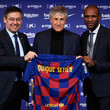 Eric Abidal and Quique Setien