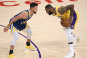 LeBron James and Stephen Curry Photos Photo