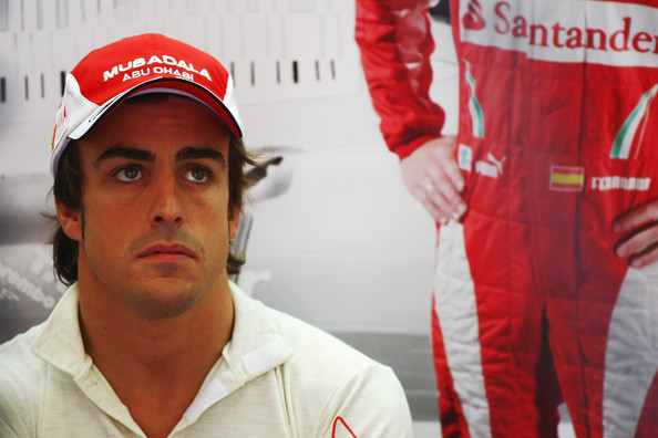 Fernando Alonso of Spain and Ferrari prepares to drive during the final practice session prior to qualifying for the European Formula One Grand Prix at the Valencia Street Circuit on July 26, 2010, in Valencia, Spain.