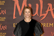 "Edith Bowman attends the European Premiere of Disney's ""MULAN"" at Odeon Luxe Leicester Square on March 12, 2020 in London, England."