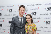 Ansel Elgort and Kaitlyn Dever attend the European Premiere of Paramount Pictures 'Men, Women & Children' at Odeon Covent Garden on October 9, 2014 in London, England.