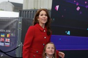 Princess Mary of Denmark and Princess Isabella of Denmark visit B&W Hallerne during the Eurovision Song Contest 2014 on May 8, 2014 in Copenhagen, Denmark.