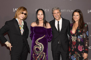 Eva Chow Michael Govan 2017 LACMA Art + Film Gala Honoring Mark Bradford and George Lucas Presented by Gucci - Red Carpet