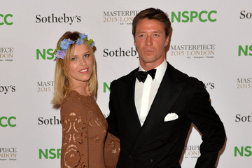 Eva Herzigova Celebrities Arrive at the NSPCC Neo-Romantic Art Gala