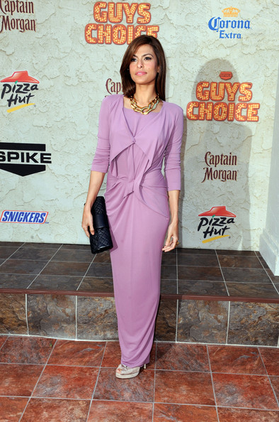 "Eva Mendes Actress Eva Mendes arrives at Spike TV's 5th annual 2011 ""Guys Choice"" Awards at Sony Pictures Studios on June 4, 2011 in Culver City, California."