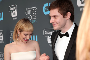 Evan Peters Emma Roberts The 23rd Annual Critics' Choice Awards - Red Carpet