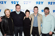 """(L-R) Co-creator John Fawcett, actors Kristian Bruun, Tatiana Maslany, Jordan Gavaris and co-creator Graeme Manson attend An Evening With The Cast & Co-Creator Of """"Orphan Black"""" at 92nd Street Y on March 31, 2016 in New York City."""
