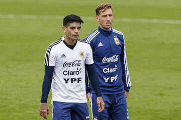 Ever Banega Argentina Training Session