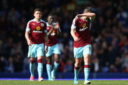 Joey Barton of Burnley is dejected after the Premier League match between Everton and Burnley at Goodison Park on April 15, 2017 in Liverpool, England.