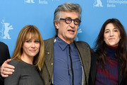 Actress Marie Josee Croze, director Wim Wenders and actress Charlotte Gainsbourg attend the 'Every Thing Will Be Fine' photocall during the 65th Berlinale International Film Festival at Grand Hyatt Hotel on February 10, 2015 in Berlin, Germany.