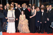 (4th-L-R) Marie Josee Croze, Robert Naylor, guest, Bjorn Olaf Johannesse, James Franco, guest, guest, Lilah Fitzgerald, Wim Wenders, Dieter Kosslick, guest and Charlotte Gainsbourg attend the 'Every Thing Will Be Fine' premiere during the 65th Berlinale International Film Festival at Berlinale Palace on February 10, 2015 in Berlin, Germany.