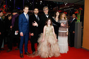 Actors Robert Naylor, James Franco, director Wim Wenders, actresses Charlotte Gainsbourg, Marie Josee Croze and Lilah Fitzgerald (front) attend the 'Every Thing Will Be Fine' premiere during the 65th Berlinale International Film Festival at Berlinale Palace on February 10, 2015 in Berlin, Germany.