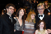 Producer Gian Piero Ringel, actresses Charlotte Gainsbourg, Marie Josee Croze, director Wim Wenders and actress Lilah Fitzgerald (front) attend the 'Every Thing Will Be Fine' premiere during the 65th Berlinale International Film Festival at Berlinale Palace on February 10, 2015 in Berlin, Germany.