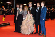 Producer Gian Piero Ringel, actresses Charlotte Gainsbourg, Marie Josee Croze, director Wim Wenders and actors James Franco, Robert Naylor and Lilah Fitzgerald (front) attend the 'Every Thing Will Be Fine' premiere during the 65th Berlinale International Film Festival at Berlinale Palace on February 10, 2015 in Berlin, Germany.