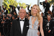 """Fawaz Gruosi and Romee Strijd attend the screening of """"Everybody Knows (Todos Lo Saben)"""" and the opening gala during the 71st annual Cannes Film Festival at Palais des Festivals on May 8, 2018 in Cannes, France."""