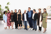 """(L-R) Guest, Barbara Lennie, Carla Campra, actor Ricardo Darin, actress Penelope Cruz, wearing jewels by Atelier Swarovski Fine Jewelry, director Asghar Farhadi, Sara Salamo and actor Javier Bardem, Eduard Fernandez, Elvira Minguez and Sara Salamo attend the photocall for """"Everybody Knows (Todos Lo Saben)"""" during the 71st annual Cannes Film Festival at Palais des Festivals on May 9, 2018 in Cannes, France."""