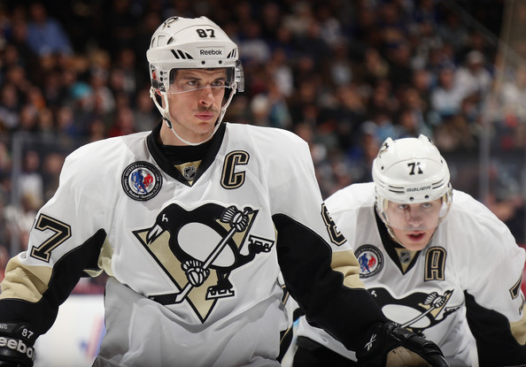 Evgeni Malkin and Sidney Crosby - Pittsburgh Penguins v Toronto Maple Leafs