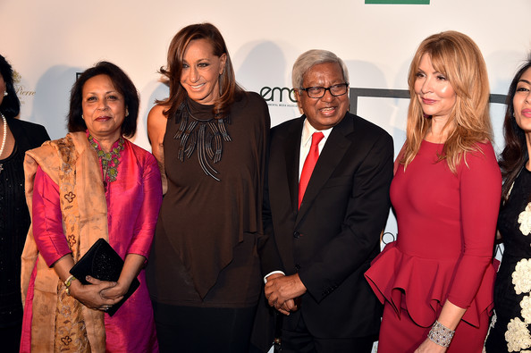 Fashion 4 Development Luncheon [red,event,fashion,pink,formal wear,fashion design,suit,evie evangelou,donna karan,fashion 4 development luncheon,f4d,new york city,the pierre hotel,fashion 4 development,official first ladies luncheon]