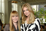Teen Vogue magazine Editor in Chief Amy Astley and model Kate Upton pose for the Express & Kate Upton Campaign Launch Event on July 8, 2014 in New York City.