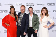 """(L-R) Breegan Jane, Jesse Tyler Ferguson, Darren Keefe and Carrie Locklyn attend the """"Extreme Makeover: Home Edition"""" series premiere and screening party on February 16, 2020 in Torrance, California."""