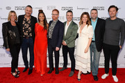 """(L-R) Sharon Levy, Loren Ruch, Breegan Jane, Jesse Tyler Ferguson, Darren Keefe, Carrie Locklyn, Robert Wimbish and Michael Heyerman attend the """"Extreme Makeover: Home Edition"""" series premiere and screening party on February 16, 2020 in Torrance, California."""