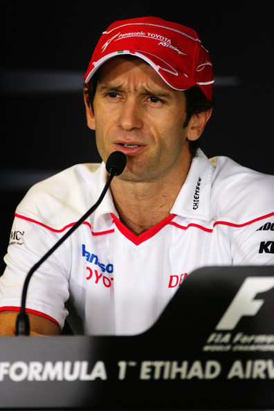Jarno Trulli of Italy and Toyota attends the drivers press conference during previews to the Abu Dhabi Formula One Grand Prix at the Yas Marina Circuit on October 29, 2009 in Abu Dhabi, United Arab Emirates.