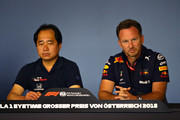 Christian Horner and Toyoharu Tanabe Photos Photo