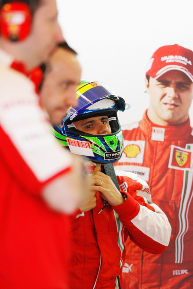 Felipe Massa of Brazil and Ferrari prepares to drive during practice for the Hungarian Formula One Grand Prix at the Hungaroring on July 24, 2009 in Budapest, Hungary.